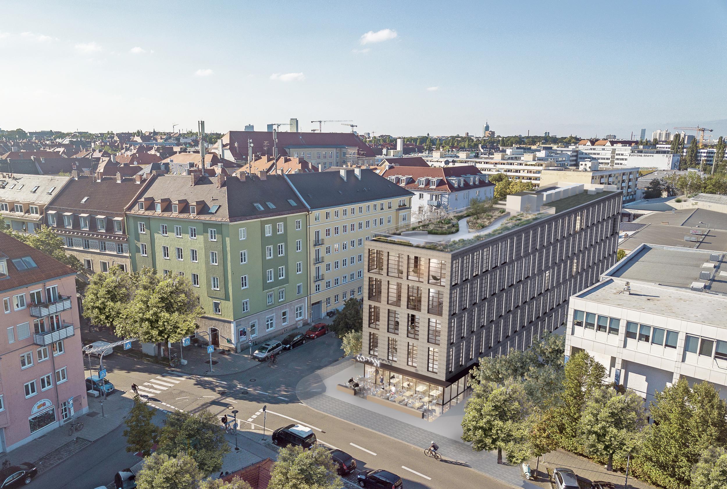 comN Fassadenansicht Vogelperspektive (Credit: Urban Progress)
